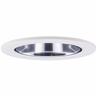 Elco EL2622C Modern Clear with White Medium Base 3  Halogen Line Voltage Down Lighting Die Cast Adjustable Wall Wash Reflector Trim