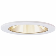 Elco EL2622G Contemporary Gold with White Medium Base 3  Halogen Line Voltage Recessed Lighting Die Cast Adjustable Wall Wash Reflector Trim