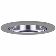 Elco EL2622N Modern Nickel Medium Base 3  Halogen Line Voltage Recessed Light Die Cast Adjustable Wall Wash Reflector Trim