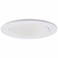 Elco EL2622W Modern White Medium Base 3  Halogen Line Voltage Recessed Lighting Die Cast Adjustable Wall Wash Reflector Trim