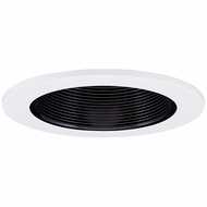 Elco EL2624B Contemporary Black with White Medium Base 3  Halogen Line Voltage Recessed Light Adjustable Wall Wash Baffle Trim