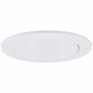 Elco EL2624W Modern White Medium Base 3  Halogen Line Voltage Down Lighting Adjustable Wall Wash Baffle Trim