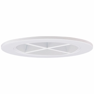 Elco EL2644W Contemporary White Medium Base 3  Halogen Line Voltage Recessed Lighting Reflector with Cross Blade Trim