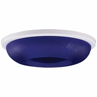 Elco EL2652BL Contemporary Blue Medium Base 3  Halogen Line Voltage Recessed Lighting Die Cast Round Glass Trim