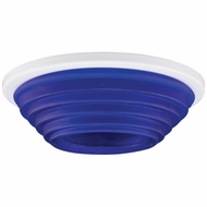 Elco EL2653BL Modern Blue Medium Base 3  Halogen Line Voltage Down Lighting Die Cast Accent Trim