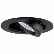 Elco EL2688B Contemporary Black Medium Base 3  Halogen Line Voltage Recessed Light Die Cast Adjustable Pull Down Trim