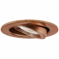 Elco EL2688CP Contemporary Copper Medium Base 3  Halogen Line Voltage Recessed Lighting Die Cast Adjustable Pull Down Trim