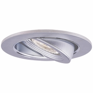 Elco EL2688N Contemporary Nickel Medium Base 3  Halogen Line Voltage Recessed Lighting Die Cast Adjustable Pull Down Trim