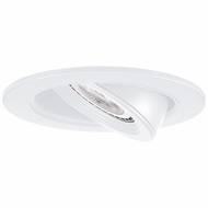 Elco EL2688W Modern White Medium Base 3  Halogen Line Voltage Recessed Lighting Die Cast Adjustable Pull Down Trim