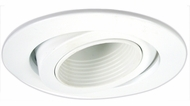 Elco EL2689WW Modern White Medium Base 3  Halogen Line Voltage Recessed Light Die Cast Adjustable Deep Baffle Trim