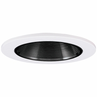 Elco EL2693B Contemporary Black with White Medium Base 3  Halogen Line Voltage Down Lighting Die Cast Adjustable Baffle Trim