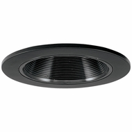 Elco EL2693BB Contemporary Black Medium Base 3  Halogen Line Voltage Recessed Light Die Cast Adjustable Baffle Trim