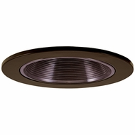 Elco EL2693BZ Modern Bronze Medium Base 3  Halogen Line Voltage Recessed Light Die Cast Adjustable Baffle Trim