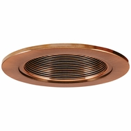 Elco EL2693CP Contemporary Copper Medium Base 3  Halogen Line Voltage Down Lighting Die Cast Adjustable Baffle Trim