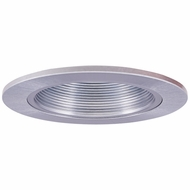 Elco EL2693N Modern Nickel Medium Base 3  Halogen Line Voltage Recessed Light Die Cast Adjustable Baffle Trim
