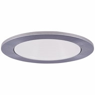 Elco EL2693WN Contemporary White with Nickel Medium Base 3  Halogen Line Voltage Recessed Lighting Die Cast Adjustable Baffle Trim
