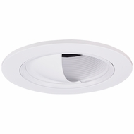 Elco EL2695W Modern White Medium Base 3  Halogen Line Voltage Recessed Lighting Adjustable Wall Wash Scoop with Baffle Trim