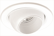 Elco EL2698WW Contemporary White Medium Base 3  Halogen Line Voltage Recessed Light Die Cast Adjustable Eyeball Trim