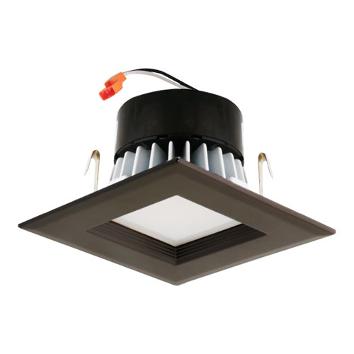 Elco EL44130BZ Bronze 4u0026nbsp; Square LED Insert Square Baffle Recessed Lighting Trim. Loading zoom  sc 1 st  Affordable L&s & Elco EL44130BZ Bronze 4
