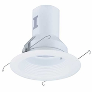 Elco EL511W Modern White Medium Base 5  Recessed Light Metal Splay Baffle Trim