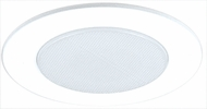 Elco EL512W Contemporary White Medium Base 5  Down Lighting Abalite Shower Trim