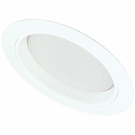 Elco EL542-OM5W Contemporary Medium Base 5  Sloped Down Lighting Regressed Albalite with Baffle Trim