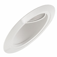 Elco EL607 Contemporary Medium Base 6  Super Sloped Recessed Lighting Baffle PAR38 Gimbal Trim