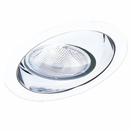 Elco EL619CW Contemporary Clear with White Medium Base 6 Sloped Down Lighting Regressed Eyeball Reflector Trim