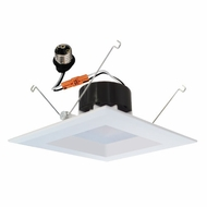 Elco EL66230W White 6  LED Square Insert Reflector Recessed Lighting Trim