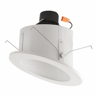 Elco EL714W White 6 Sloped Ceiling LED Baffle Inserts Recessed Light Fixture