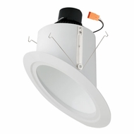 Elco EL764W White 6 Super Sloped Ceiling LED Baffle Inserts Recessed Light Fixture