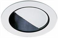 Elco EL992B Contemporary Black with White Medium Base 4  Recessed Light Wall Wash Mini Trim