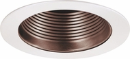 Elco EL993KCPW Contemporary Copper with White Medium Base 4  Down Lighting Baffle Mini Trim (with Bracket)