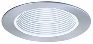 Elco EL993WN Contemporary White with Nickel Medium Base 4  Recessed Lighting Phelonic Baffle Mini Trim