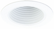 Elco EL994DW Contemporary White Medium Base 4  Recessed Lighting Deep Phelonic Baffle with Diecast Ring Mini Trim