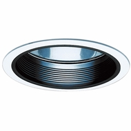 Elco ELA501B Contemporary Black Medium Base 5  Recessed Light Reflector with Baffle Trim