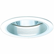 Elco ELA501W Modern White Medium Base 5  Recessed Lighting Reflector with Baffle Trim