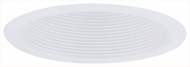 Elco ELM500W Contemporary White Medium Base 5  Recessed Lighting Airtight Metal Cone Baffle Trim
