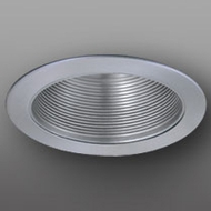 Elco ELM5033N Modern Nickel Medium Base 5  Recessed Lighting Baffle with Socket Bracket Trim