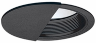 Elco ELM5045B Modern Black Medium Base 5  Recessed Light Wall Wash Baffle with Socket Bracket Trim