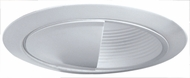 Elco ELM5045W Contemporary White Medium Base 5  Down Lighting Wall Wash Baffle with Socket Bracket Trim
