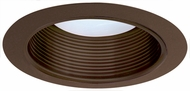 Elco ELM530BZ Modern Bronze Medium Base 5  Recessed Lighting Metal Stepped Baffle Trim