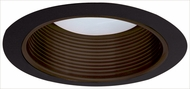 Elco ELM530BZB Contemporary Bronze with Black Medium Base 5  Down Lighting Metal Stepped Baffle Trim