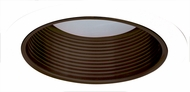 Elco ELM530BZW Modern Bronze with White Medium Base 5  Recessed Light Metal Stepped Baffle Trim