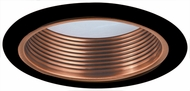 Elco ELM530CPB Modern Copper with Black Medium Base 5  Down Lighting Metal Stepped Baffle Trim