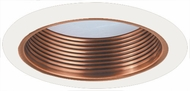 Elco ELM530CPW Contemporary Copper with White Medium Base 5  Recessed Lighting Metal Stepped Baffle Trim