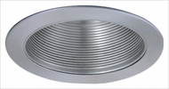Elco ELM530KN Contemporary Nickel Medium Base 5  Recessed Lighting Metal Stepped Baffle Trim (with Bracket)