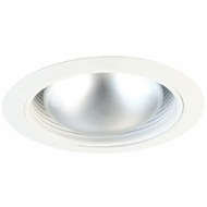 Elco ELM530KW Modern White Medium Base 5  Recessed Light Metal Stepped Baffle Trim (with Bracket)