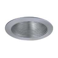 Elco ELM530N Modern Nickel Medium Base 5  Down Lighting Metal Stepped Baffle Trim