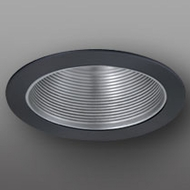 Elco ELM530NB Contemporary Nickel with Black Medium Base 5  Recessed Light Metal Stepped Baffle Trim